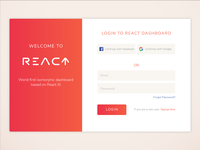 React Dashboard Login