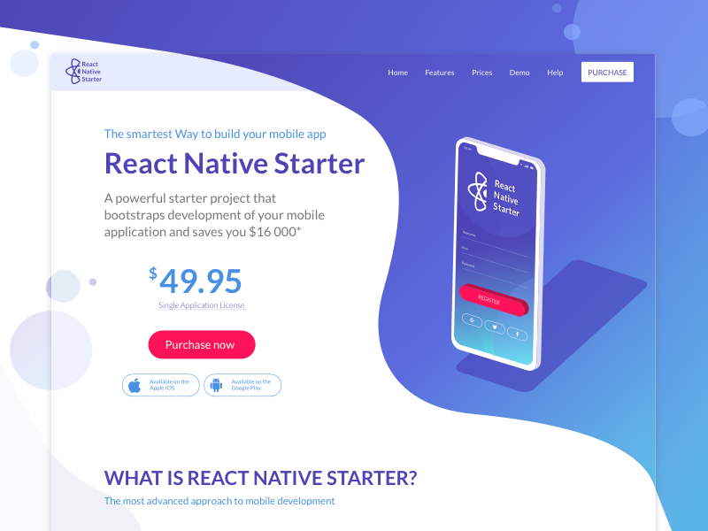 React Native Starter Landing