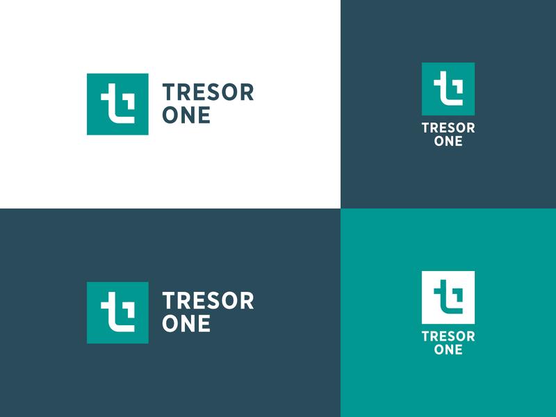 Tresor One Logo branding logo