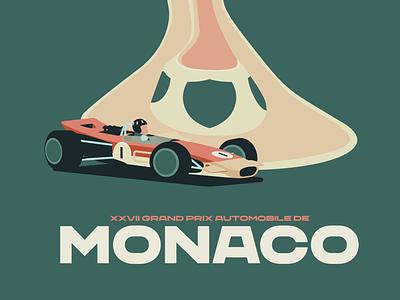 Monaco Grand Prix Illustration racecar car race car f1 formula 1 grand prix lotus monaco motor racing motorsport illustration racing