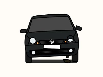 Broken VW Lupo volkswagen broken lupo car illustration