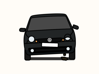 Broken VW Lupo volkswagen broken lupo car illustration