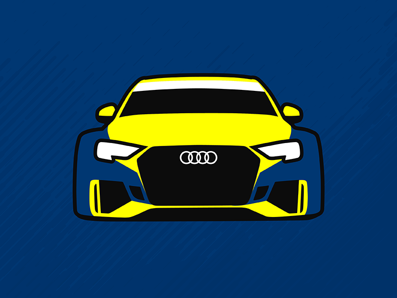 Audi RS3 LMS TCR Illustration livery car illustration racing