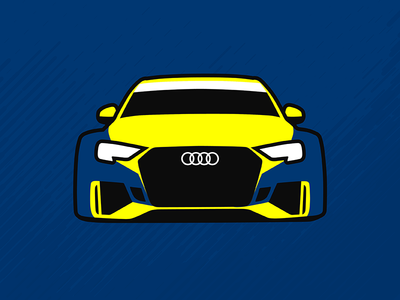 Audi RS3 LMS TCR Illustration