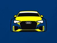 Audi RS3 LMS TCR Illustration
