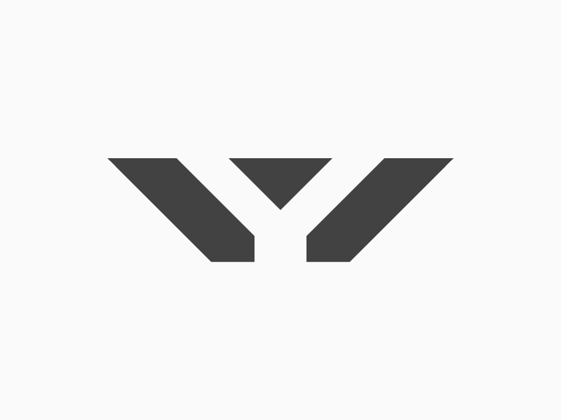 Y white black prism y logo