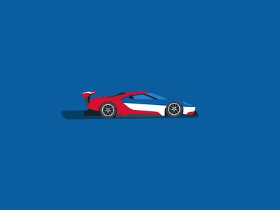 Ford GT Illustration wec ford motorsport racing illustration