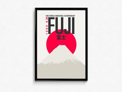 1983 1000 km Fuji print poster racing japan fuji