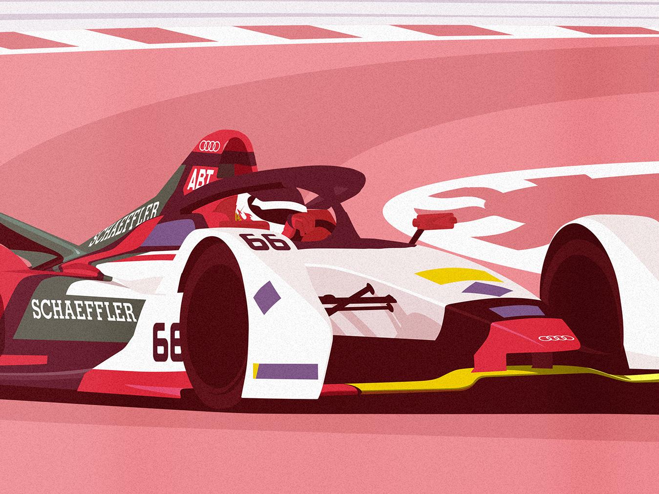 Marrakesh E-Prix audi marrakesh morocco vector motorsport formula e illustration racing