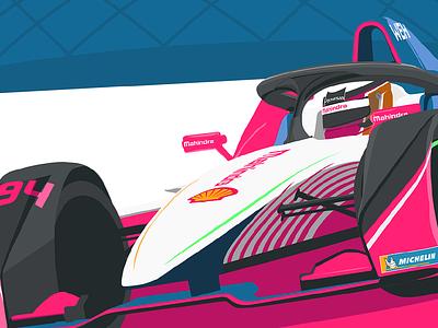Santiago E-Prix santiago chile vector motorsport formula e illustration racing