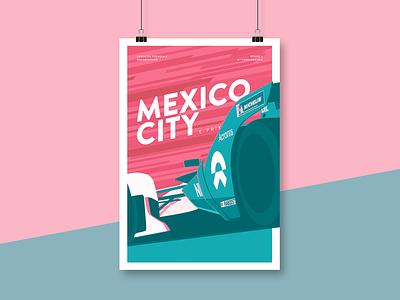 FIA Formula E – Mexico City E-Prix Illustration racecar car nio mexico city mexico motorsport illustration racing formula e