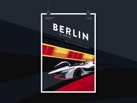 Berlin E-Prix –FIA Formula E Poster