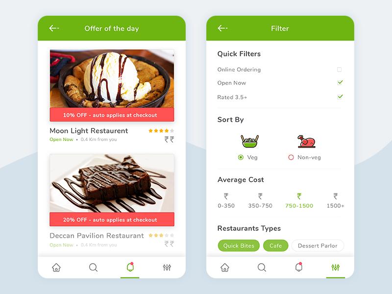 Food Express Part 3 veg non-veg green foodie app food colors