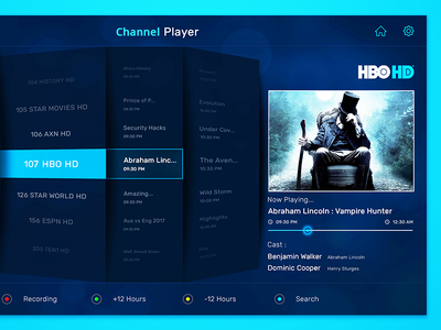 Channel Player dth tv player android tv player