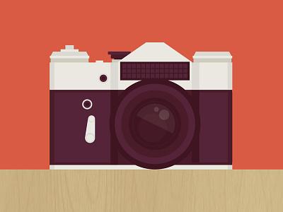 Camera camera flat illustration icon vector
