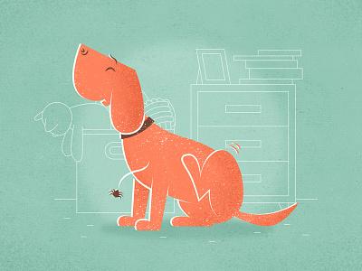Spider illustration cartoon character animal dog spider room vector vintage giclee toys furniture