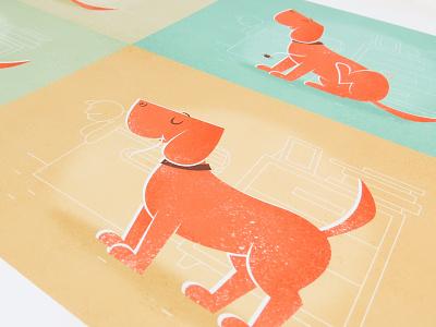 Spider furniture toys giclee vintage vector room etsy dog animal character cartoon illustration