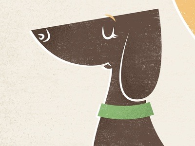 Dachshund dog dachshund vector cartoon animal cute funny illustration vintage etsy weiner