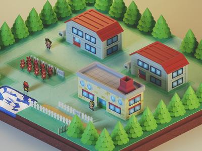 3D Pallet Town