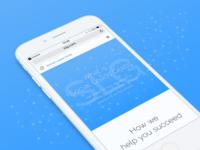 Landing page graphic design branding blue web app mockup social network landing ui mobile