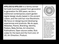 Apelido & Apelido website detail