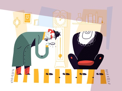 Sherlock book story room footprint vector detective illustration character sherlock holmes