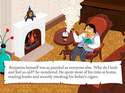 benjamin button1 children childrens book literature vector character animation illustration book