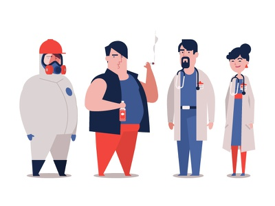 Chris The Addict illness hospital doctor work marihuana alcohol addict health characters animation