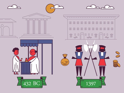 History Of Banking business stock exchange money renaissance medici greek history bank animation