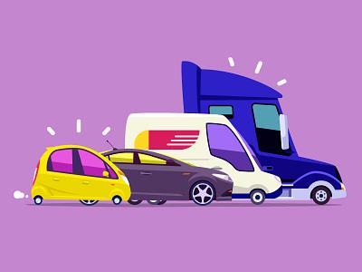 Car Pack set pack van truck coupe sports car tata car illustration animation