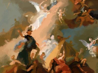 Saints digital paint digital art digital painting paradise heaven christian brush paint saints baroque