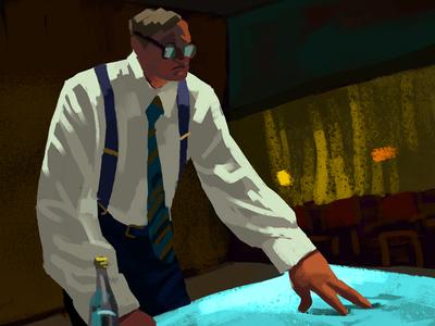 Legasov - Chernobyl HBO digital paint digital art ukraine brush science scientist nuclear chernobyl digital painting illustration