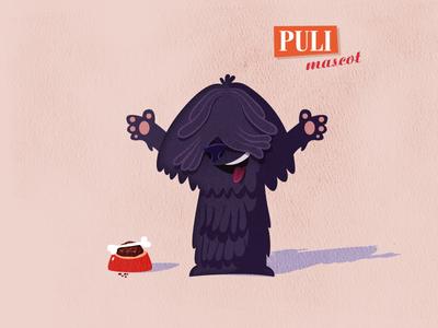 Puli hungarian puli dog mascot
