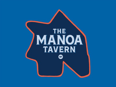 Manoa Tavern typography logo logo design