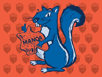 Manoa Tavern Squirrel illustration