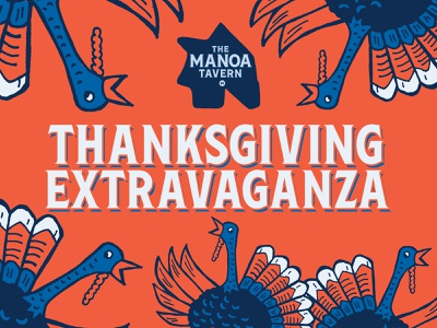 Manoa Tavern Turkey illustration