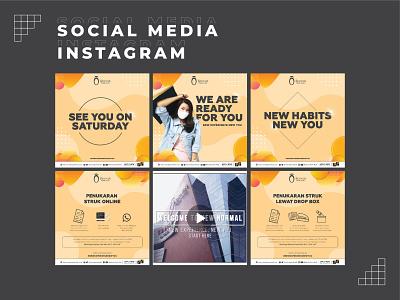 Social Media Instagram Design for Shopping Mall layout social media instagram design graphic design branding