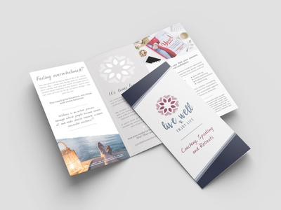 Live Well and Enjoy Life Tri-fold trifold brochure layoutdesign trifold