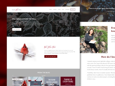 Kelley Sewell Writing and Editing Website womeninbusiness squarespace webdesign