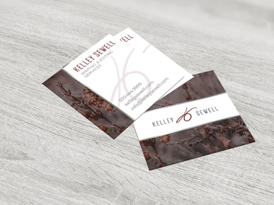 Kelley Sewell Writing and Editing Business Cards business cards business card design businesscard