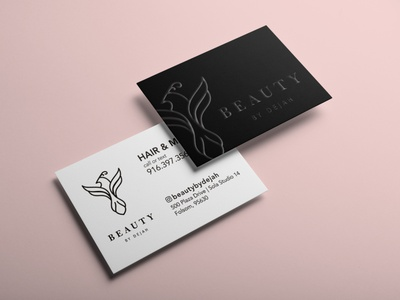 Beauty by Dejah Business Cards brand design branding logodesign beauty salon beauty logo hair salon business card design businesscard
