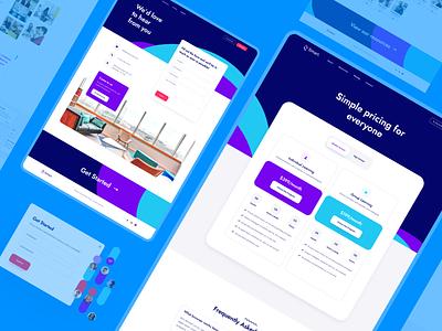 Online School (Pricing & Contact) school online school education contact pricing colorful website branding typography design web design web