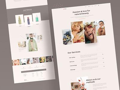Natural & Beauty - Homepage yoga massage cosmetology hairsalon hairstyle beauty nails brown fashion ecommerce web design web