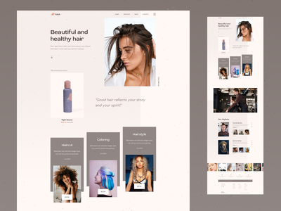 Natural & Beauty - Hairstyling sketch beauty product beauty salon hairdresser hairstyle beauty haircut hair website web