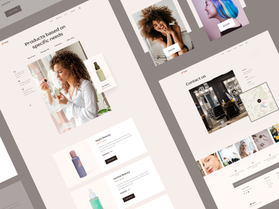 Natural & Beauty - Product, Contact typography ui webdesign marketing business ux contact page contact product page products ecommerce web