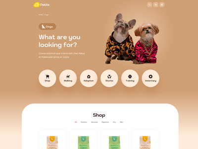 Petits - Other Pages website ui design web design web