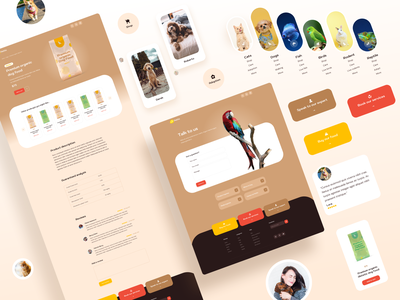 Petits - Other Pages website ui design web design web