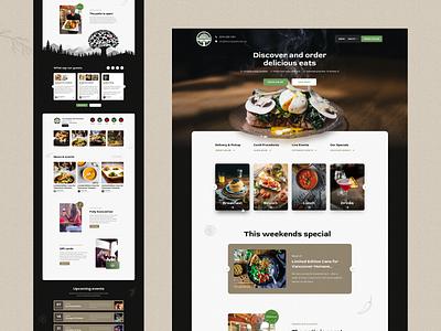 Crabapple - Redesign business website ui design web design patio design system figma sketch design sketch lunch brunch food restaurant cafe