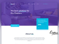 Website design for Dry Cleaning company