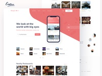 App Landing Page for a great travel company